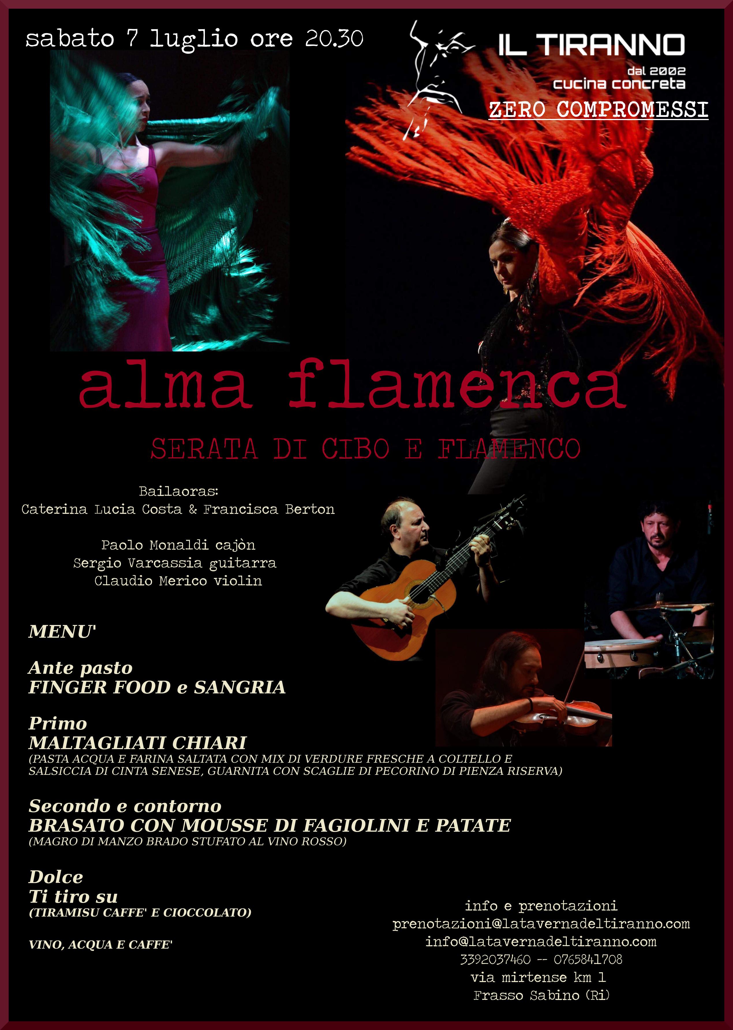 Serata di Cibo e Flamenco